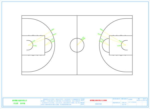 篮球场地的画法_在路上